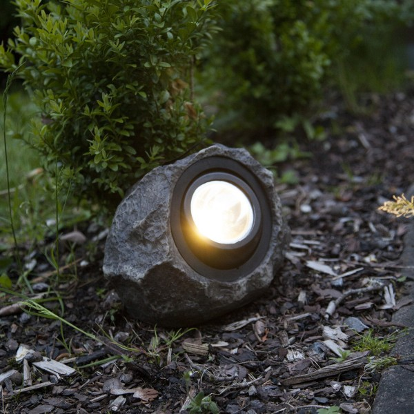 """LED Solar Felsen """"Rocky"""" - Spot mit warmweißer LED"""