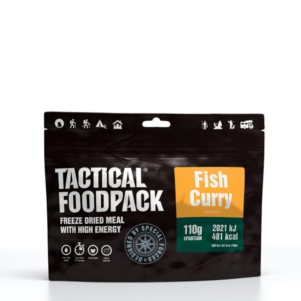Tactical Foodpack - Asia Fischcurry mit Seehechtfilet und Reis - 110g