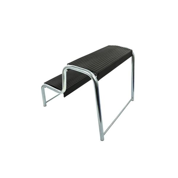Doppeltrittstufe schwarz für Wohnmobil/Wohnwagen