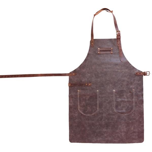 FEUERMEISTER Lederschürze in Antikleder Farbe Anthrazit mit 2 Taschen Größe 3