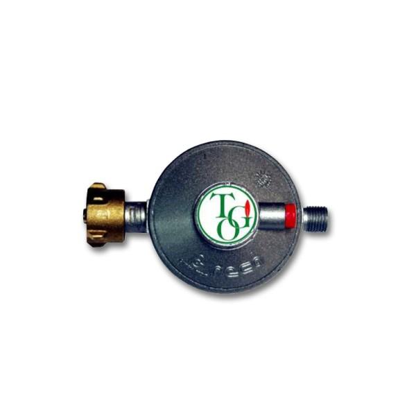 """Gasregler Niederdruck 30mbar - 1,5kg/h - Kleinflaschenanschluss x 1/4"""" links - einstufig"""