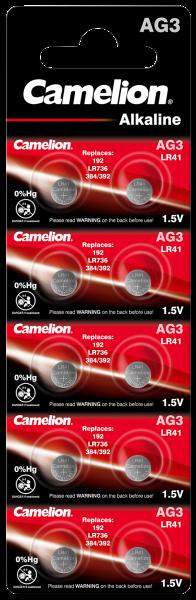 AG3 LR41 Batterien - 10er Set - Knopfzelle - 1,5V - Camelion