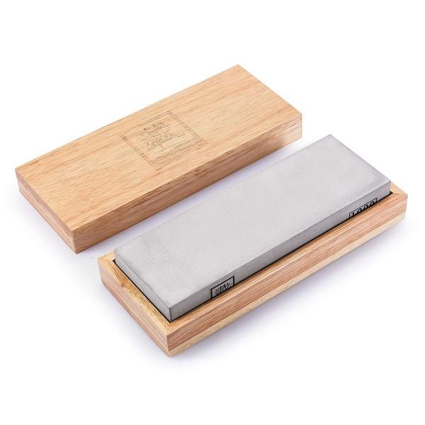 ZAYIKO Messer Schleifstein - Körnung 1000 - Wasser- oder Ölschleifen - Für den Feinschliff