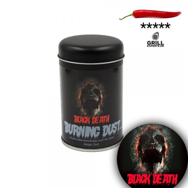 BLACK DEATH - BURNING DUST sehr scharfe Gewürzmischung - 120g Streuer