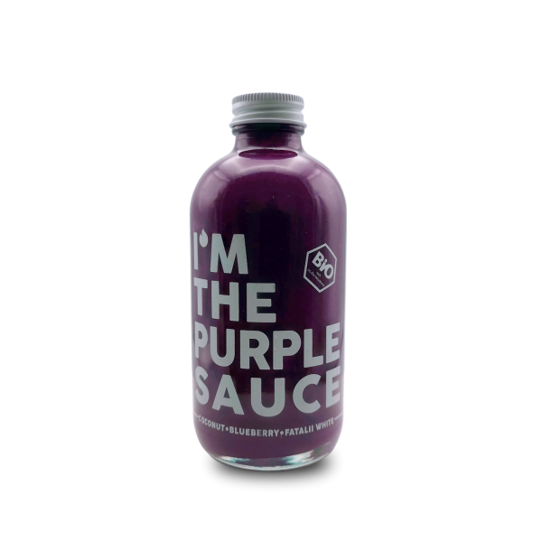 THE PURPLE SAUCE - HAWT Chili Manufaktur - Bio Sauce mit Kokos, Blaubeeren, Chili - 250ml