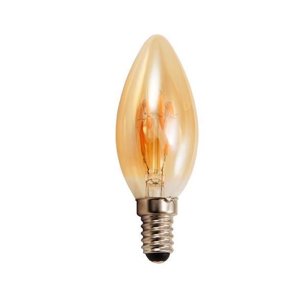 LED Kerzenlampe RETRO-GOLD-Filament - E14 - 2W - 150lm - 2200K