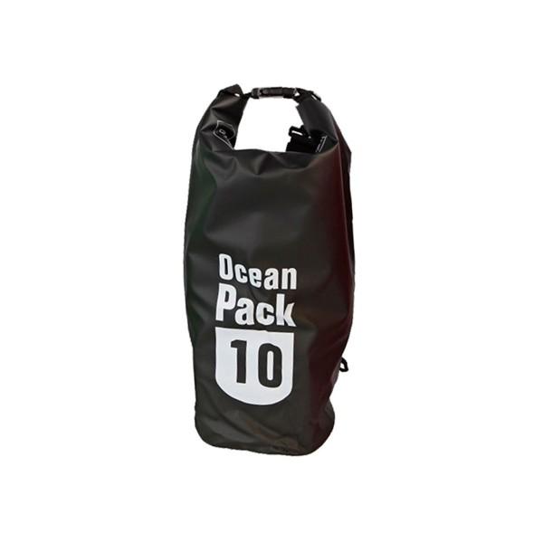 OCEAN PACK 10 Liter schwarz - wasserfester Beutel