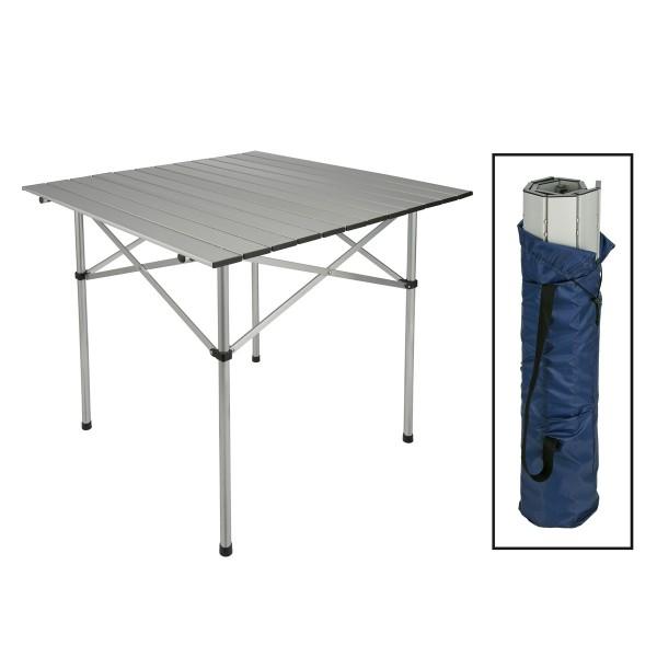 Campingtisch aufrollbar - Aluminium - 70 x 70 x 70cm - super kompakt