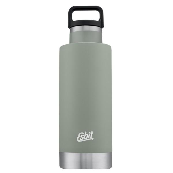 """ESBIT SCULPTOR Edelstahl Isolierflasche """"Standard Mouth"""", 750ML, stone grey"""