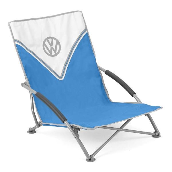 VW Collection - VW T1 Bus Strandstuhl blau - faltbarer Stahlrahmen - max 120kg