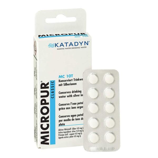 KATADYN Micropur Classic MC 10T - Trinkwasser Konservierung Silberionen - 40 Tabletten - 1T/10L