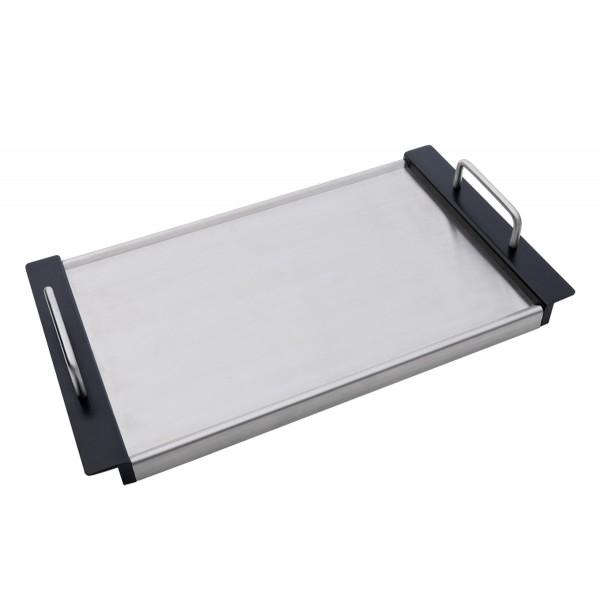 CADAC Teppanyaki Platte für Meridian Grills - Edelstahl  mit Aluminiumkern - 26,5 x 48cm