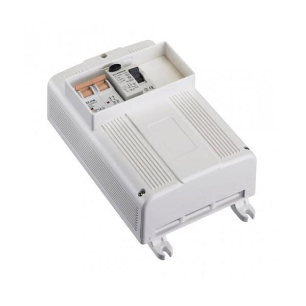 Sicherungskasten mit FI Schalter - zweipoliger 13A Sicherungsautomat - 13,5 x 23,5x 9,5cm