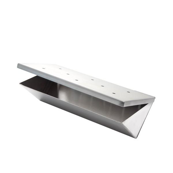 Edelstahl Räucherbox / Smokerbox in V-Form - Für Holz- & Gasgrill