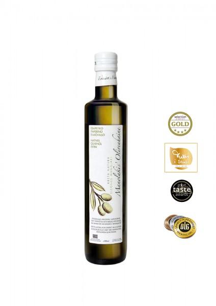 KretaNatura 500 ml  Extra Natives Olivenöl aus Kreta (Glasflasche)