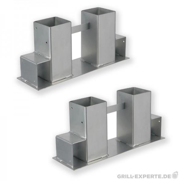 Kaminfeuer Stapelhilfe für Brennholz - 2 Metallfüße