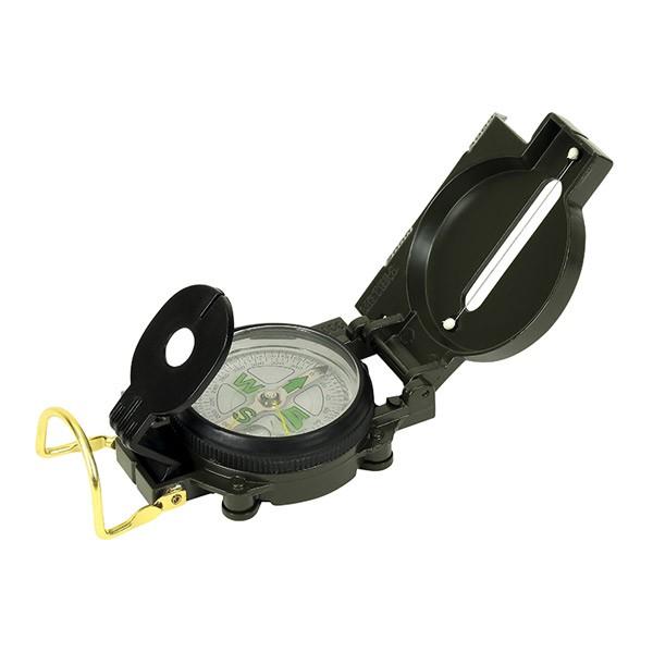 Peil- und Marschkompass - Flüssigkeitsgedämpft, mit Visier - inkl Lupe und Tasche