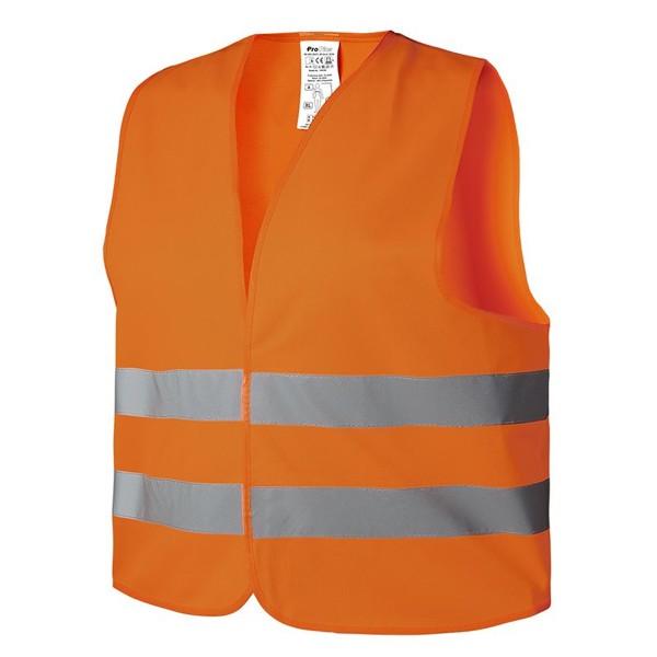 Sicherheitsweste Warnweste orange - nach DIN ISO 20471:2013