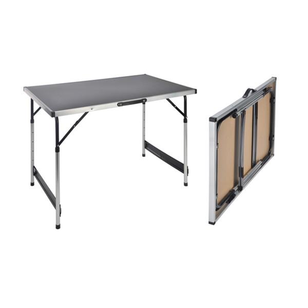 Camping Tisch / Universaltisch 100x60cm - Teleskopfüße (75/80/85/90cm) - tragbar, leichtes Aluminium