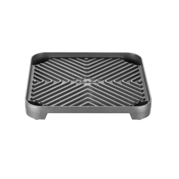 CADAC gerippte Platte für 2-COOK Campingkocher - 25x25cm - GreenGrill Oberfläche