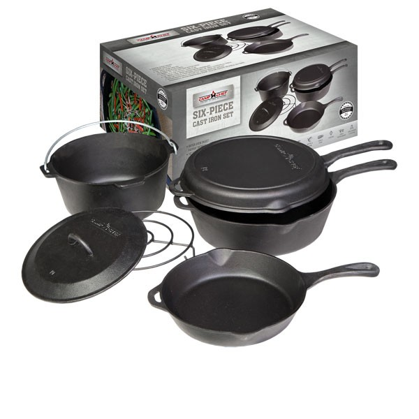 Camp Chef 6-teiliges Gusseisen-Set