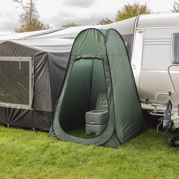 Pop-Up Zelt für Campingtoilette, Umkleide, Dusche etc - 120x120x190cm