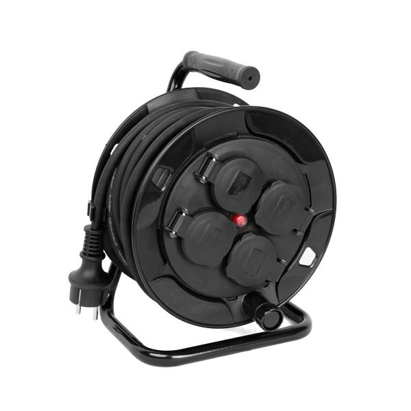 Kabeltrommel outdoor IP44 - 10m - 3 x 1,5mm - 4 Abgänge