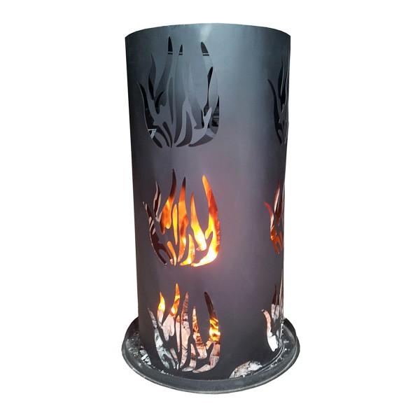 Feuersäule inkl. Feuerrost und Schürhaken - H: 60cm - D: 40cm