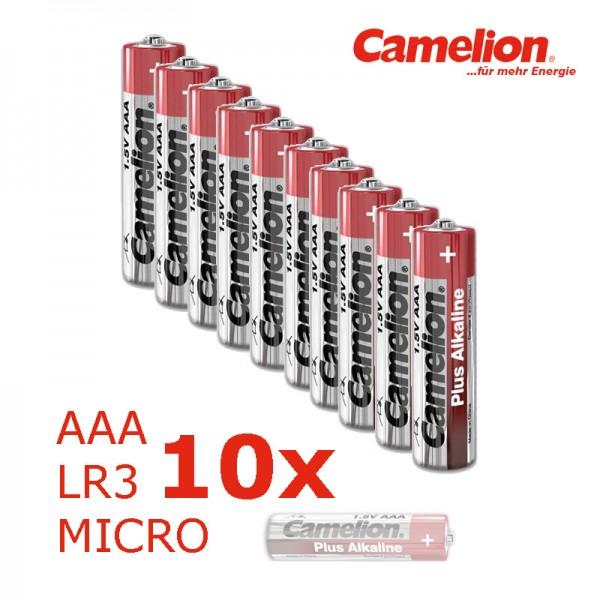 Batterie Mignon AAA LR3 1,5V PLUS Alkaline - Leistung auf Dauer - 10 Stück - CAMELION