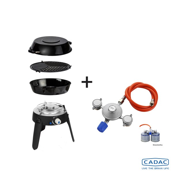 CADAC SAFARI CHEF 2 LITE LP POWER-KIT - 30mBar - Topfständer, Grillrost, Pfanne/Deckel, Power KIT