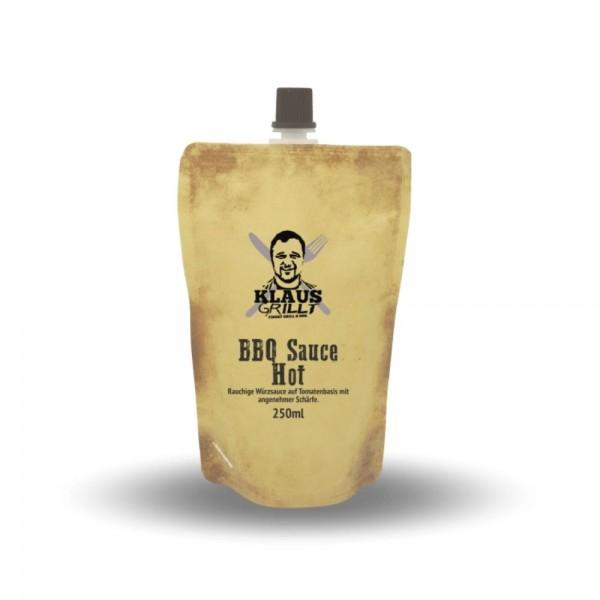 Klaus Grillt BBQ Sauce Hot 250ml Beutel
