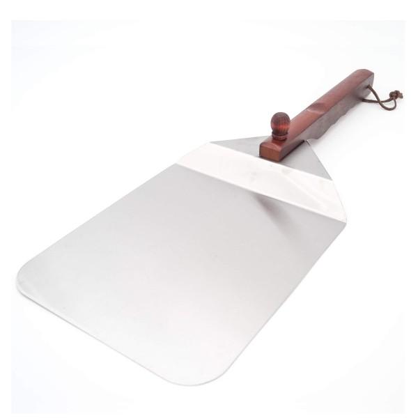 Pizzaschaufel aus Edelstahl mit Holzgriff - klappbar