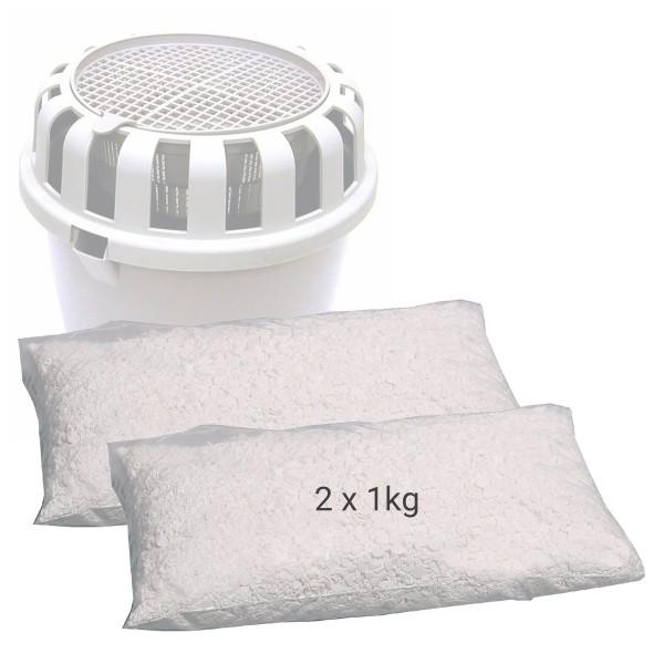Nachfüll-Granulat für z.B. Raumentfeuchter CASO-Box - Für Räume bis 50m³ - 3-4 Monate wirksam