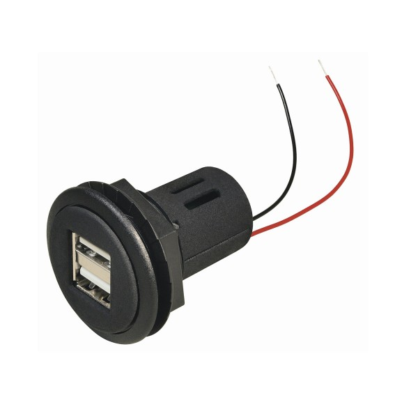 Dual USB Ladeadapter für Einbau -12v und 24V - 2 x 2,5A Ladestrom