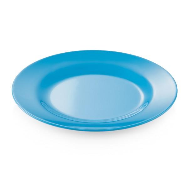 Campingteller SUMMER - Melamin - 23cm flach - blau