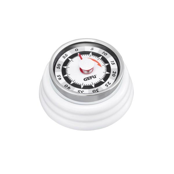 Küchentimer Kurzzeitmesser RETRO weiß - mechanisch - magnetisch
