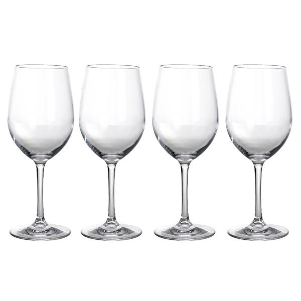 4 x Weißweinglas aus bruchfestem Polycarbonat - 380ml