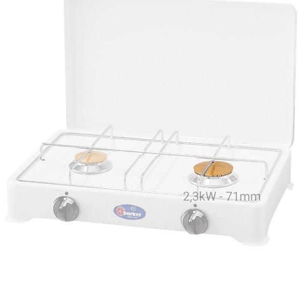 PARKER Brennerdeckelauflage für Gaskocher (für Hauptbrenner 2,3kW) - 71mm - Messing