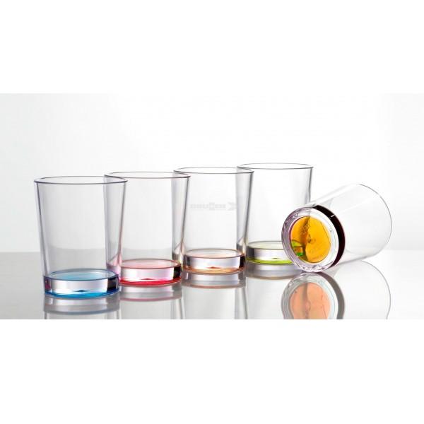 Trinkgläser COLOR - 4er Set - 4 Farben - bruchfester Kunststoff - ANTI SLIP - 200ml