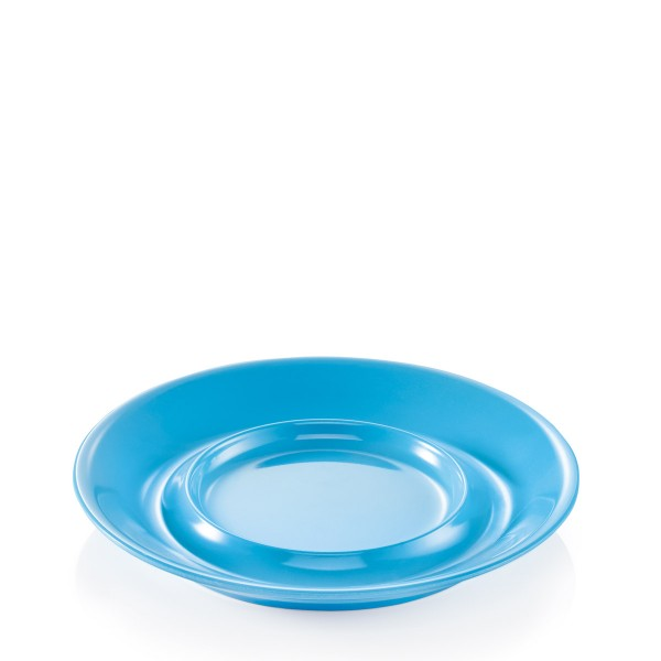Campingbecher Untertasse SUMMER - Melamin - D: 14,5cm - blau