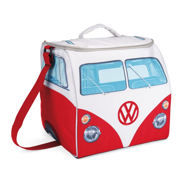 VW Collection - VW T1 Kühltasche groß ROT - 30 Liter - 35x36x30cm - Isoliert & PU beschichtet