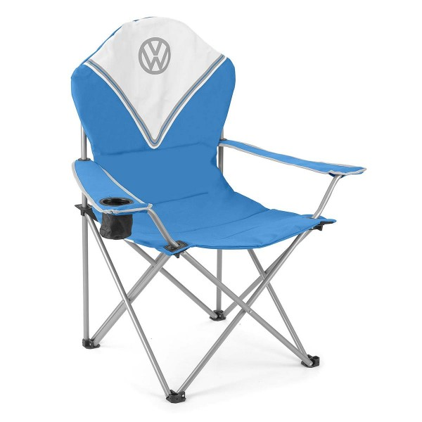 VW Collection - VW T1 Bus Campingstuhl DELUXE blau - faltbarer Stahlrahmen - max 120kg