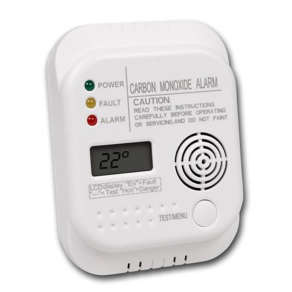 Kohlenmonoxid Warngerät - Alarmsensor - Batteriebetrieb - inkl. Thermometer