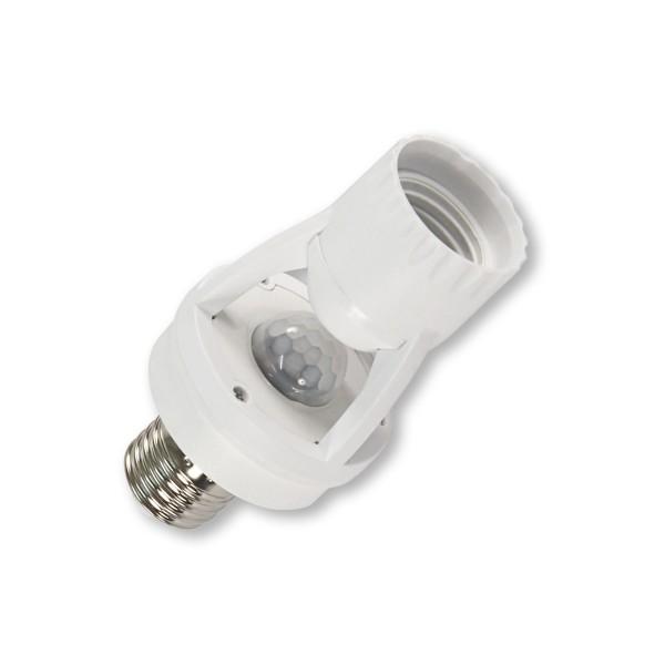 Lampenfassung mit Bewegungsmelder - 360° - 1-60W - E27 Gewinde - zur Nachrüstung