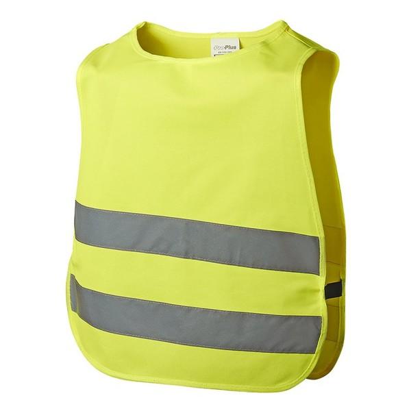 Sicherheitsweste / Warnweste für Kinder - gelb - Größe S (5-12 Jahre)