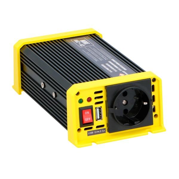 Spannungswandler, Wechselrichter - 12V auf 230V - 300W max - USB 5V - inkl.Anschlusskabel