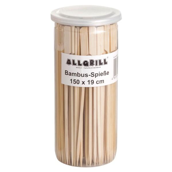 Bambus-Spieße 19 cm lang, Inhalt 150 Stück - Ideal für Burger