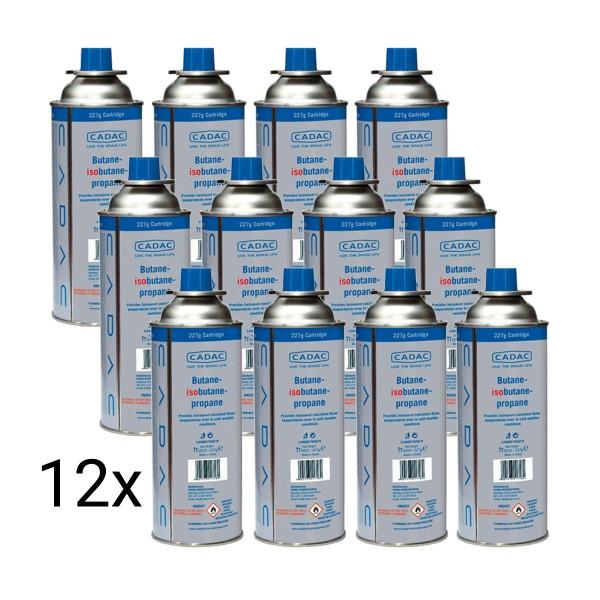 12 x CADAC CAN220 Butan/Propan Kartusche mit SSN-29 Gewinde - 220g