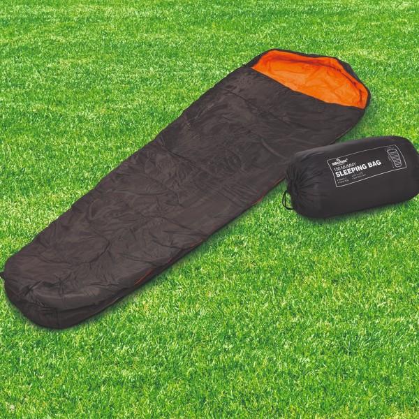 Mumienschlafsack - 2 Jahreszeiten - L: 210cm - inkl. Tragetasche - Anthrazit/Orange