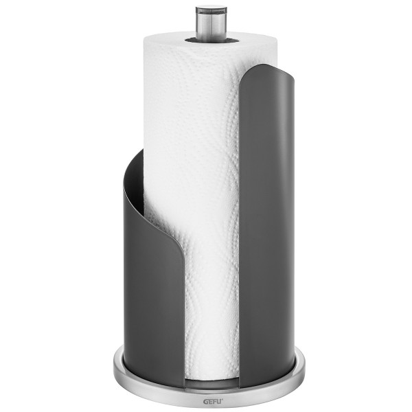Küchenrollenhalter CURVE - schwarzmatter Edelstahl - H: 30cm - für Rollen bis D: 13cm